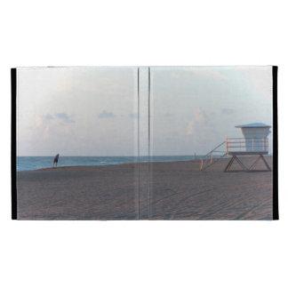 lifeguard shack on beach with walker iPad folio case