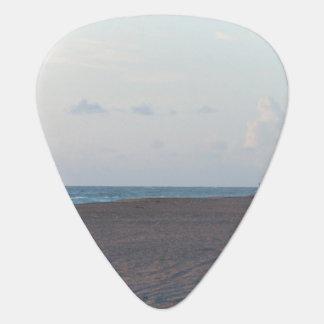 lifeguard shack on beach with walker guitar pick