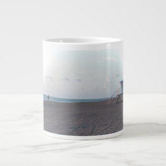 lifeguard shack on beach with walker extra large mug