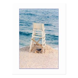 'Lifeguard Stand at Twilight' Postcard