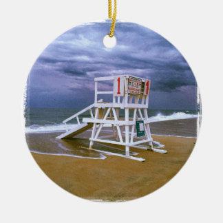 Lifeguard Stand Round Ceramic Decoration