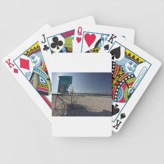 Lifeguard Tower at Panama City Beach Pier Bicycle Playing Cards