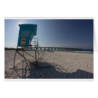 Lifeguard Tower at Panama City Beach Pier Card
