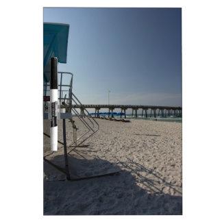 Lifeguard Tower at Panama City Beach Pier Dry Erase Board