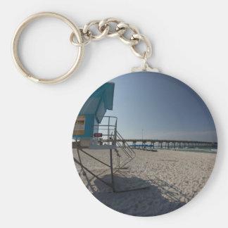 Lifeguard Tower at Panama City Beach Pier Key Ring