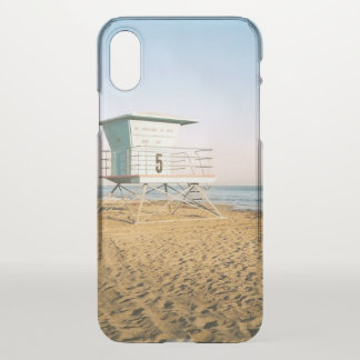 Lifeguard Tower in Santa Cruz iPhone X Case