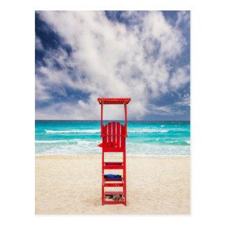 Lifeguard Tower On Beach   Cancun, Mexico Postcard