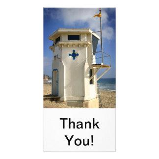 Lifeguard Tower Customized Photo Card