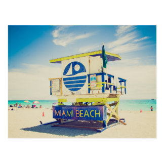 Lifeguard Tower   South Beach, Miami, Fl Postcard