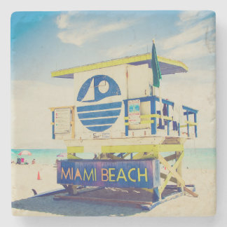 Lifeguard Tower | South Beach, Miami, Fl Stone Coaster