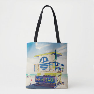 Lifeguard Tower | South Beach, Miami, Fl Tote Bag