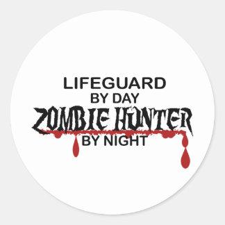 Lifeguard Zombie Hunter Classic Round Sticker