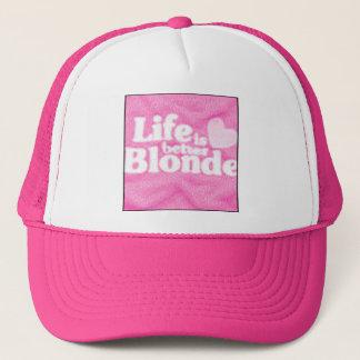 lifeisbetterblonde trucker hat