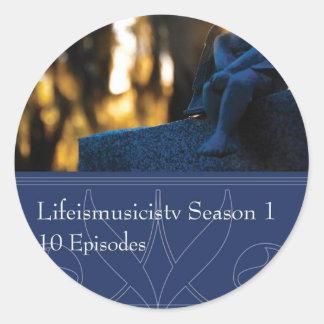 Lifeismusicistv Season 1 Format: DVD Round Sticker