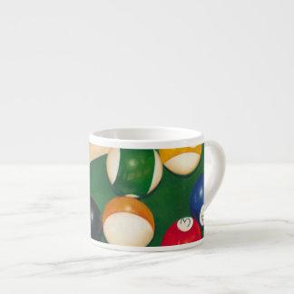Lifelike Billiards Table with Balls and Chalk Espresso Mug