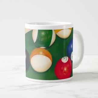 Lifelike Billiards Table with Balls and Chalk Jumbo Mug