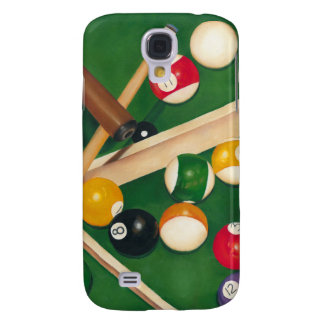 Lifelike Billiards Table with Balls and Chalk Samsung Galaxy S4 Cover