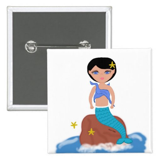 Lifen the Mermaid Button