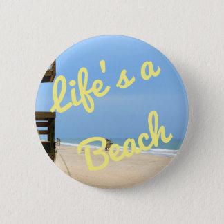 Life's a Beach Button