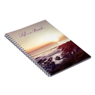 Life's a Beach notebook