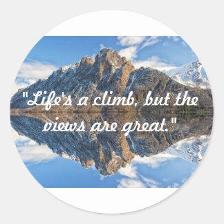 Life's a climb sticker
