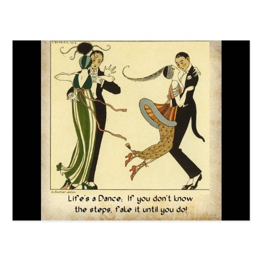 Life's a Dance:  Postcard