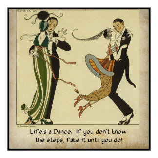 Life's a Dance:  Vintage Fashion Poster
