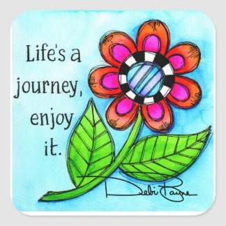 Life's A Journey Square Sticker