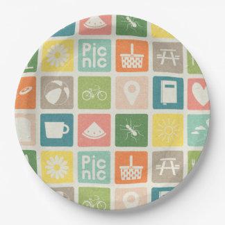 Life's A Picnic Pictogram Paper Plates