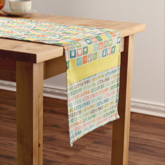 Life's A Picnic Soft Yellow Table Runner
