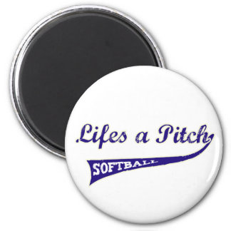 Lifes a Pitch! Refrigerator Magnets