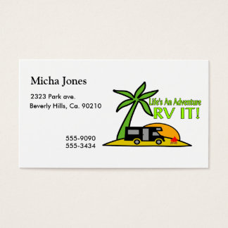 Life's An Adventure So RV It Business Card