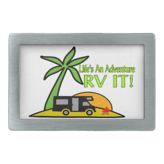 Life's An Adventure So RV It Rectangular Belt Buckle