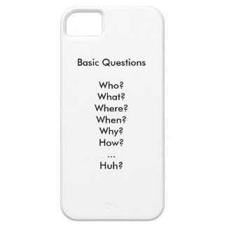 Life's Basic Questions iPhone 5 Covers