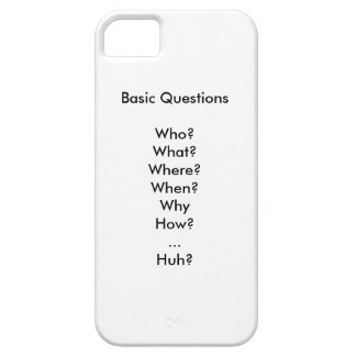 Life's Basic Questions iPhone 5 Case