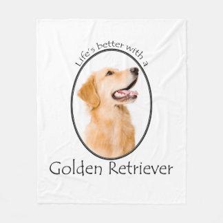 Lifes Better Golden Fleece Blanket