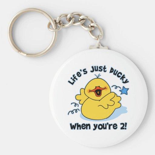 Life's Ducky 2nd Birthday Keychain