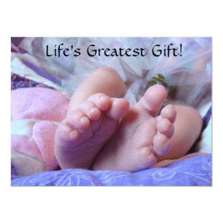 Life's Greatest Gift Baby Girl Shower Invitations