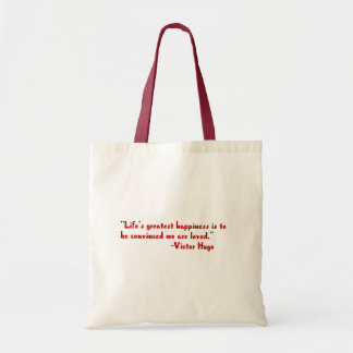 Life's greatest happiness budget tote bag
