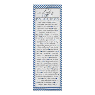 Lifes Little Instructions (navy blue) Poster