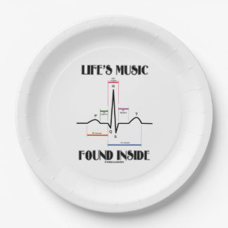 Life's Music Found Inside ECG Electrocardiogram Paper Plate