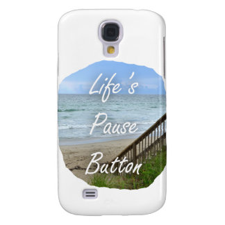 Lifes Pause Button beach ocean florida image Samsung Galaxy S4 Cover
