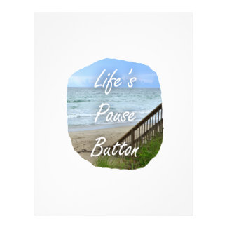 Lifes Pause Button beach ocean florida image Personalized Flyer