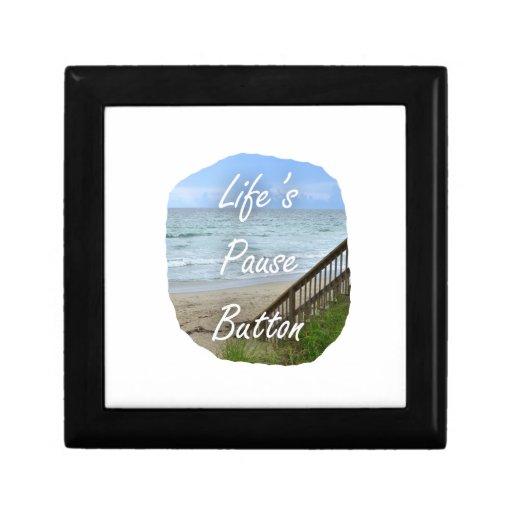 Lifes Pause Button beach ocean florida image Gift Boxes
