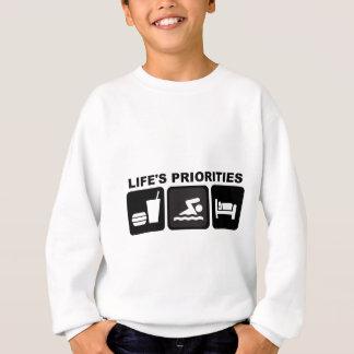 Life's Priorities, Swimming Sweatshirt
