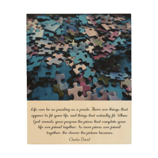 Life's Puzzle Wood Canvas