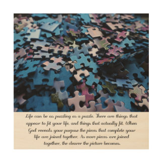 Life's Puzzle Wood Canvases
