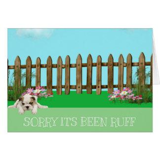 Life's Ruff - Bulldog Card
