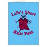 Life's Short, Knit Fast Fun Knitting Design Cards
