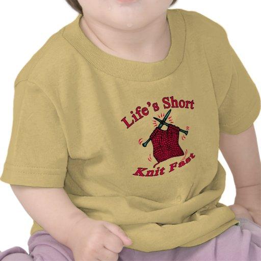 Life's Short, Knit Fast Fun Knitting Design T-shirts